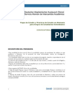 DAAD Convocatoria Viajes y Practicas de Estudios 2011