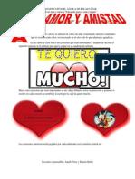 Amor y Amistad Proyecto Educando Para La Vida y La Paz