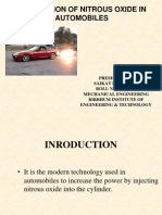 Seminar Application of Nitrous Oxide in Automobiles Ppt