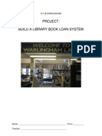 ICT Project - Make a Book Loan System