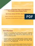 19 Turkey Evaluation of Potassium Status of Greenhouses in West Mediterranean Region