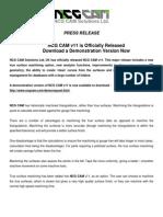 NCG CAM V11 Press Release