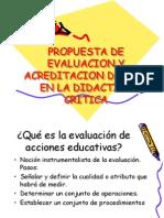 Propuesta de Evaluacion y Acreditacion Del Pea En