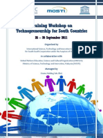 Brochure (Int) Training Workshop on Technopreneurship for South Countries