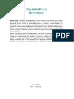 Organisational Behaviour MBA Text