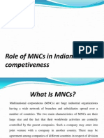 Role of Mncs in Indian Export Competiveness