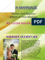 Teen Marriage
