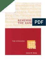 Remembering the Kana - Part 1 - Hiragana