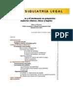 La Pericia y el Testimonio en Psiquiatría. Aspectos clínicos, éticos y legales