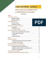 El Anteproyecto de Ley de Ordenación de las profesiones sanitarias