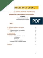 Sexualidad en pacientes ingresados en instituciones psiquiátricas - algunos aspectos éticos y legales