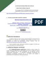 VALORACIÓN DE PÁGINAS WEB  EDUCATIVAS