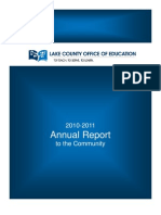 2010-11 Lake County Office of Education Annual Report