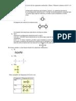 Solución ejercicio 13 diagrama de Lewis