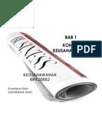 Bab 1 BPK20802 Pengenalan Kepada Keusahawanan