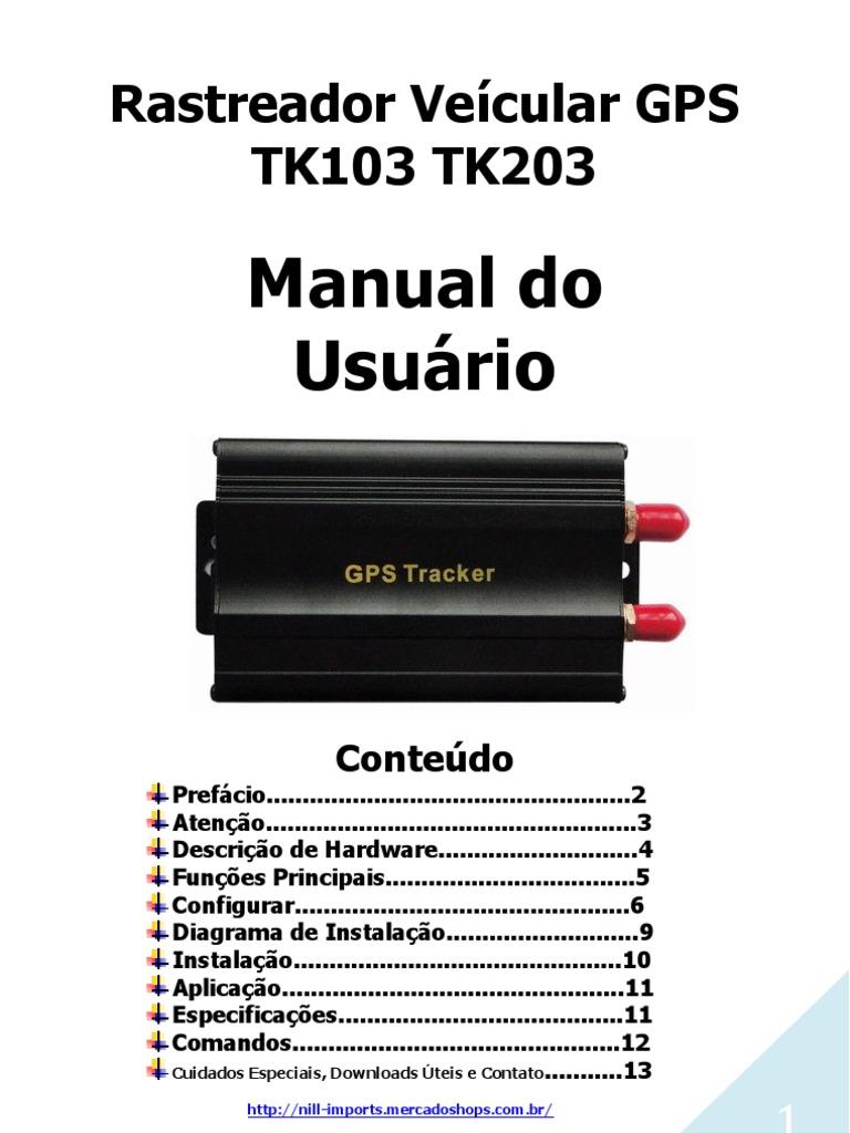 manual atualizado rastreador gps tk102 tk103 tk203 rh es scribd com Idioma Em Portugues MSN Em Portugues