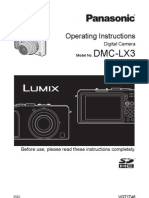 Panasonic LX3 Manual