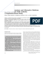 Use of Complementary and Alternative Medicine by Older Patients With Arthritis-A Population-based Study
