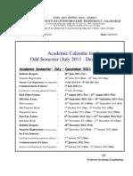 Academic Calender Jul Dec2011