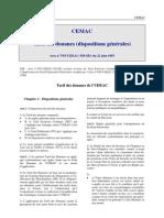 CEMAC - Tarif Des Douanes