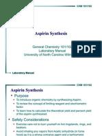 Aspirin Synthesis 2