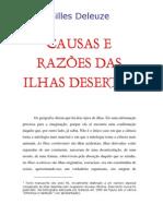 Gilles Deleuze = Causas e Razões Das Ilhas Desertas