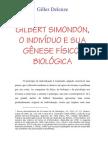 Gilles Deleuze = Gilbert Simondon s