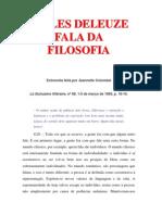 Gilles Deleuze Fala Da Filosofia