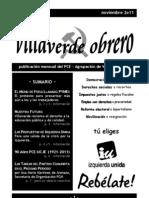 Villaverde Obrero - Número 5 - Noviembre 2o11