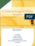 A gestão do Design em eventos