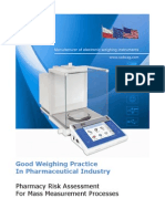 Good Weighing Practice in Pharmaceutical Industry