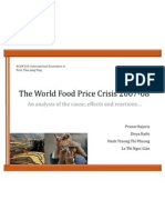 The World Food Price Crisis