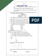 c Assignment Sheet