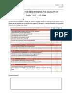 Checklist Assignment