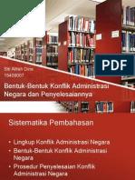 15409007 Bentuk Konflik Administrasi Negara Dan Penyelesaiannya