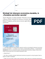 Strategii de Relansare Economica Durabila in Fereastra Serviciilor Secrete