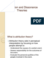 Attribution and Dissonance