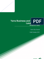 Yarra Council.  Draft Business and Industrial Land Strategy. Background Report Part 1