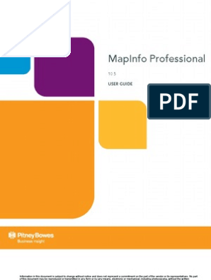 Map Info Professional User Guide | Geographic Data And Information