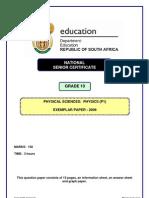 Grade10 Exemplar Physical Sciences Physics P1