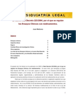 El nuevo real decreto 223-2004, por el que se regulan los Ensayos Clínicos con medicamentos