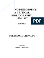 Filipino Philosophy a Critical Bibliography, 2nd Ed