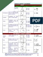 Formularios Area y Volumenes