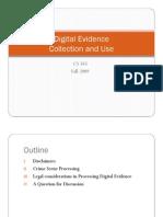 Processing Digital Evidence