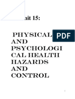 Unit 15  Physical and Psychological Health Hazards and Con…