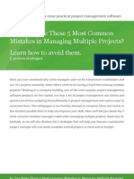 5 COMMON MISTAKES IN PROJECT MANAGEMENT