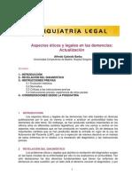 Aspectos éticos y legales en las demencias