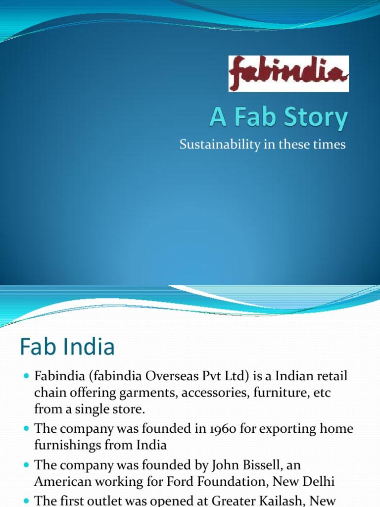 Fab India   Economies   Retail