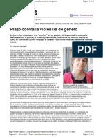 Plazo contra la violencia de género-Pag12-26-9-2011