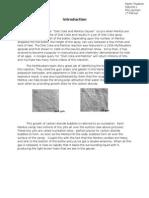 Diet Coke Mentos Nucleation Reaction - Final Report - Parth Thakker